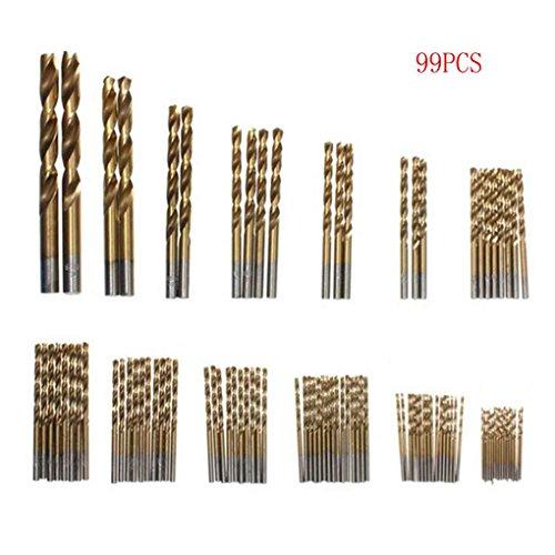 Preisvergleich Produktbild Minzhi High Speed Steel titannitriert Spiralbohrer Set Holz Bohren Loch Gerade Holzverarbeitung Holzwerkzeuggriff