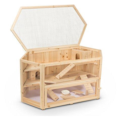 Kleintierstall Meerschweinchenstall FANNY aus Holz, 115x60x58 cm, Hamsterkäfig, Nagerkäfig