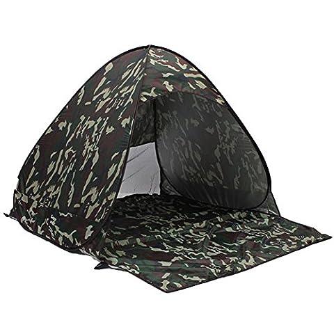 M G Fly Young Zelt Camping Outdoor Beach Sonnenschutz Outdoor Cabana Sommer fully-auto Pop Up Angeln Picknick Shelter geeignet für 23Personen tragbar, camouflage