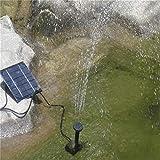 FairytaleMM Mode Quadratische Form Solar Panel Wasserpumpe Kit Brunnen Pool Gartenteich Versenkbare Bewässerung Vogel Bad Tank Set, schwarz