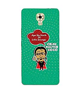 For Gionee M6 Plus aya hu kuch to leke jaunga, crime master gogo, good word, green background, good quotes Designer Printed High Quality Smooth Matte Protective Mobile Case Back Pouch Cover by APEX