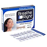 6 x Breathe Right Drug-Free Nasal Strips Large Size for Normal Skin 10 Strips