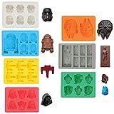 Sunerly Eiswürfelformen / Silikonförmchen in Form von Star-Wars-Charakteren,...