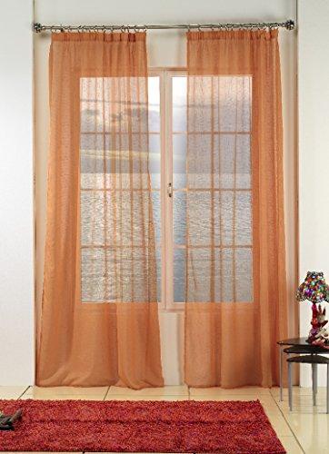 Rioma Brisa - Visillo, 200 x 270 cm, color naranja butano
