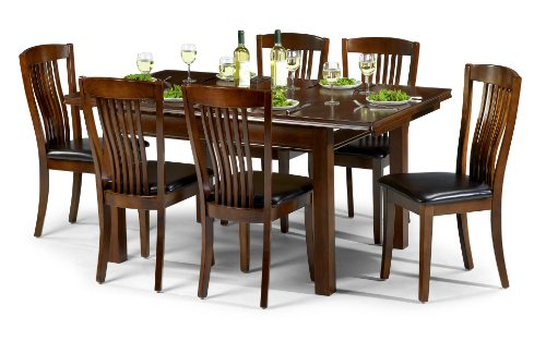 Julian Bowen Canterbury Extending Dining Table Set With 6 Chairs