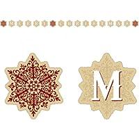 Amscan 2.22 m Shimmering Snowflakes Peg Card Holder