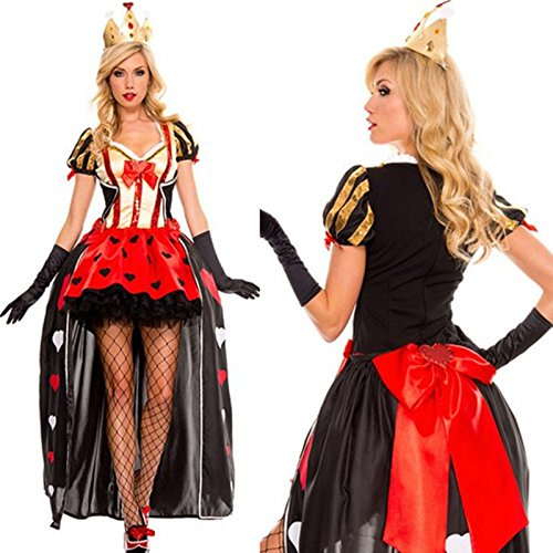 Gorgeous New Halloween Queen of Hearts cosplay poker ausgestattet Kleid Nachtclub-Sängerin ()