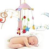 Bebé niño música giratoria lecho móvil cuna campana colgante delfín cangrejo caballo abeja mono decoración traqueteo juguetes educativo de aprendizaje