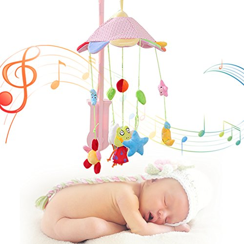 Bebé niño música giratoria lecho móvil cuna campana