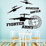 Qsdfcc Armée de Chasse Auto-adhésif Vinyle étanche Wall Art Stickers pour Chambres...