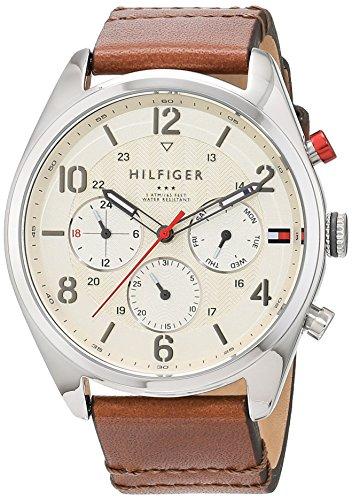 Reloj para hombre Tommy Hilfiger 1791208, mecanismo de cuarzo, diseño con varias esferas, correa de piel.
