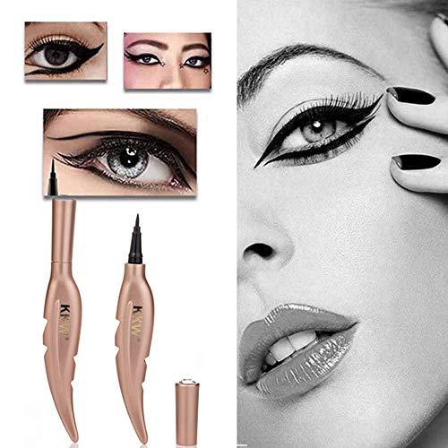 Eyeliner de Plume Créatif Imperméable Noir Durable Cosmétique EyeLiner Liquide Pearlescent Stylo d'ombre Durable Mode Makeup