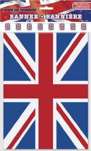 10m Flaggenbanner * British Union Jack * mit 20 Wimpel // Bunting Flag Party Geburtstag Feier Fete Deko Motto Mottoparty Wimpelkette Partykette Girlande Fahnenkette England Großbritannien UK GB