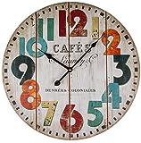 Wanduhr aus Holz Cafés - 45 cm 0916 ~