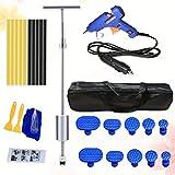 LIOOBO 26PCS Auto Dent Puller Set Lega Professionale Pull Rod T Aspirazione Shape Pull Automobile Dent Repair Tool Metal Puller