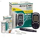 جهاز قياس نسبة السكر في الدم اكتيف مع المجموعة الكاملة من اكيو تشيك