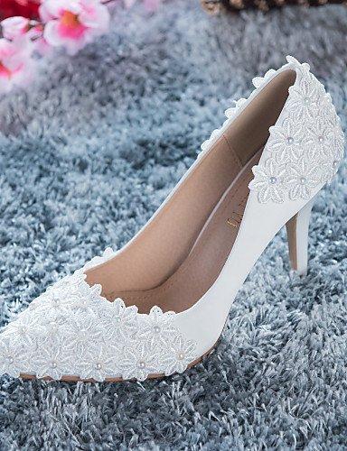 Shangyi scarpe da sposa - scarpe col tacco - tacchi - matrimonio / formale / serata e festa - rosso / bianco - da donna , red-us6.5-7 / eu37 / uk4.5-5 / cn37 , red-us6.5-7 / eu37 / uk4.5-5 / cn37
