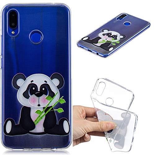 Nadoli Transparent Hülle für Huawei Nova 3,Bambus Panda Malerei Muster Crystal Kirstall Ultra Dünn Durchsichtige Schutzhülle Bumper für Huawei Nova 3,Bambus Panda