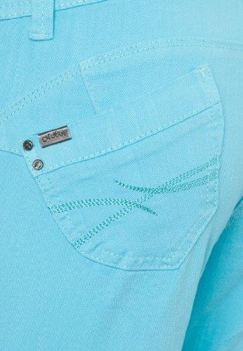 Million X Damen Push up - Bauch weg Jeans VICTORIA SKINNY COLOUR Türkis