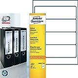 Avery Zweckform L6061-100 Ordnerrücken Etiketten (A4, 400 Rückenschilder, breit/kurz, selbstklebend, blickdicht, 59 x 192 mm) 100 Blatt weiß