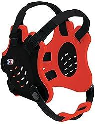 Tornado–Protector de cabeza, hombre, color Black/Red/Black, tamaño talla única