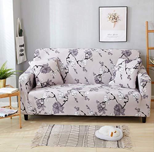Dyb&home fodera per divano copridivano elasticizzato 1/2/3/4 posti divano, lavabile in lavatrice, fiore rosa chiaro fiore jacquard tessuto protettivo poliestere
