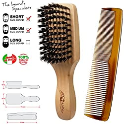 Cepillo barba y peine bigote. Brush and comb for beard. 100% made in Italy.