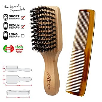 brosse a barbe et peigne moustache brush and comb for beard made in italy commerce. Black Bedroom Furniture Sets. Home Design Ideas