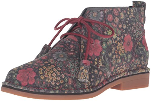 Hush Puppies Damen Cyra Catelyn Stiefel Black Floral Suede