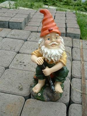 4 Lustige Gartenzwerge Gnome 22cm NEU Gartenzwerg NEU - 3