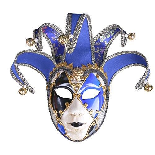 (Bemalte Halloween-Party-Party Maske Gehobene Venedig Lady Performance Maske,Blue)