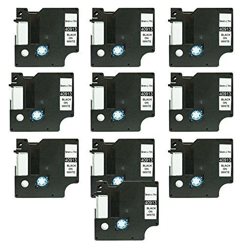 Preisvergleich Produktbild 10PerfectPrint kompatibel Label Kassette für Dymo 40913Label Manager 210D 260P 280360D 420P 500TS 40913500TS 450D Rhino 420052006000