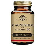 Solgar Magnesium with Vitamin B-6 Tablets – 100 tablets