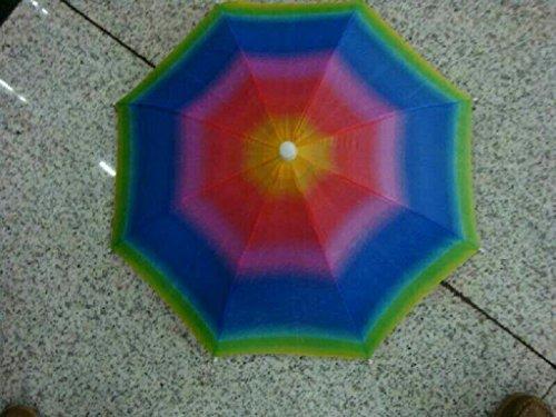 Asixx Regenschirm Hut, Faltbarer Sonnenschirm Regenschirm Hut UV-Schutz für Outdoor-Aktivitäten Wie Angeln(Regenbogen) (Hut Regenbogen Regenschirm)