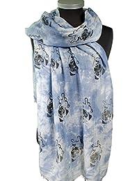 Immerschön luftig leichtes Tuch mit tollem Motiv Schal Scarf Schultertuch Kopftuch Stola Pareo Sarong tu 6