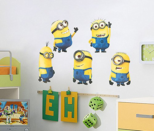 Cartoon Minions extraible Wall Art Decal Sticker 45 * 60cm