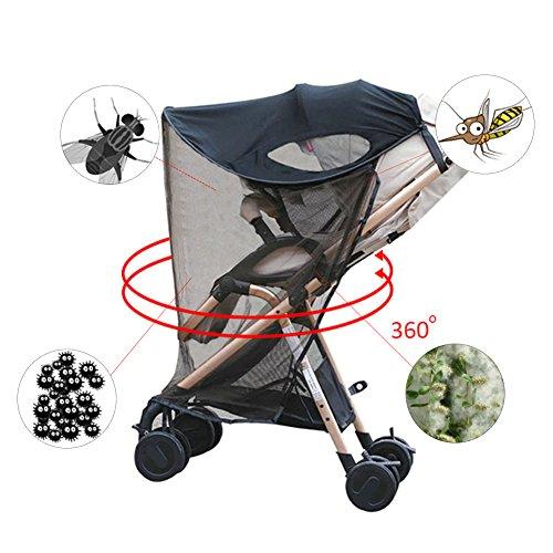 Su-luoyu Kinderwagen Sonnenschutz mit Moskitonetzen Universal Baby Sonnenverdeck für Autositz & Kinderwagen | Pop-Up Sonnendach mit UV Schutz mit Moskitonetzen Universal Pop-up-shade
