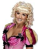 Horror-Shop Blonde Lockenperücke Cindy als Faschingsperücke für Karneval