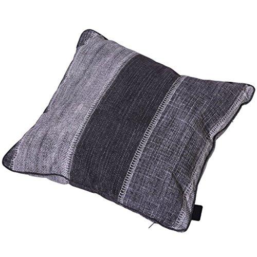 Madison – Coussin 50 x 50 cm – Denim Stripe Gris