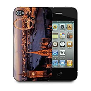 Snoogg Giant Wheel Designer Protective Phone Back Case Cover For Apple Iphone 4