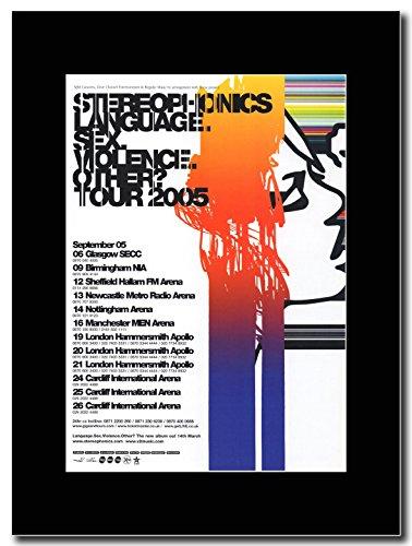 Stereophonics–Sprache. Sex. Gewalt. Andere Tour Termine 2005Magazin Promo auf A schwarz Mount