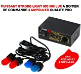 Top Strobe Light a caja de control 4 bombillas 900 000 Lux. 4 colores. Intervention asistencia patrulla coche ouvreuse. RAID Preparation 4 x 4 Faucet Donaldson Topspin Snorkel