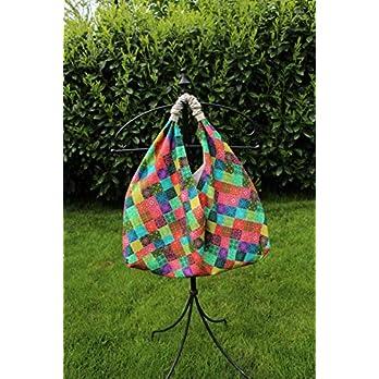 Origami-Tasche I Einkaufstasche I Schultertasche I Markttasche I Shopper I XL *fröhlich bunt*