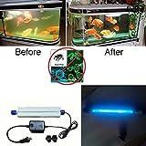 7W 11W IP68submersible lumière UV stérilisateur pour pour filtre d'aquarium eau propre, pompe, lampe de remplacement à vie, éclairage de stérilisation étanche