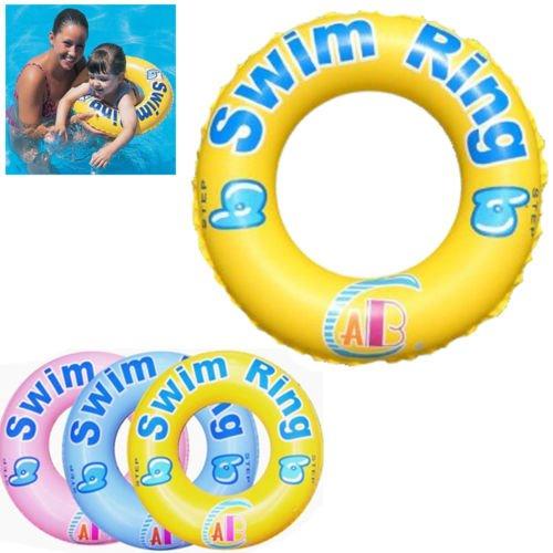 Aufblasbare Schwimmen Ring Reifen Tube Strand Schwimmbad Hilfe Spielzeuge Float Ring Sicher Gute Fusion (TM)