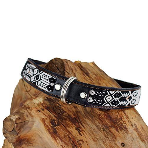 72 Leder (Hundehalsband aus Leder schwarz 72cm | Geschenk für Hunde | Handmade | Halsband Hund Robust | Geschenkidee)
