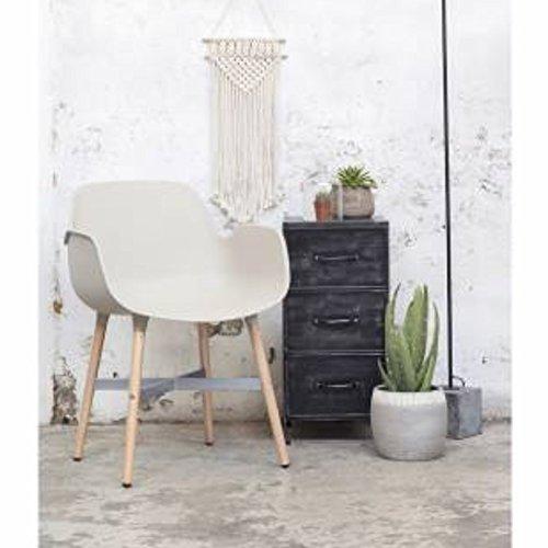 Esszimmerstuhl HAVAR grau Schalenstuhl mit Armlehne Kunststoff Stuhl Konferenzstuhl