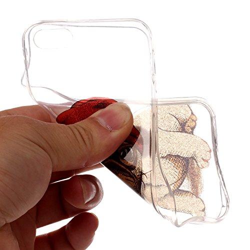 Case iPhone 5, iPhone 5S Cover, Bonice Lusso Cristallo Diamante Strass Glitter Bling [Rotazione Grip Ring Kickstand] Morbida Bordo in Silicone Posteriore a Specchio Telefono con Supporto Dellanello C Modello 02