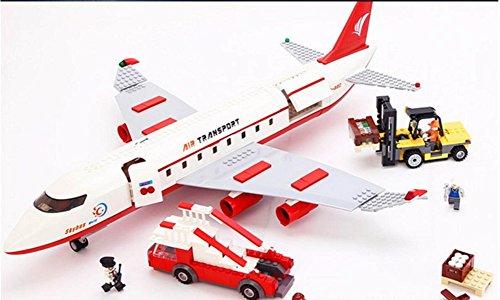 MEI Kinderspielzeug Kinder Blöcke Große Passagier Flugzeuge Kunststoff Bricks Weihnachtsgeschenke Produkt Größe: 24in * 15in * 3.1in