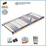 Ravensberger Matratzen MEDI XXL® Lattenrost | 5-Zonen-Buche-Schwergewichts-Lattenrahmen | 30 Leisten| starr | MADE IN GERMANY - 10 JAHRE GARANTIE | TÜV/GS 140x200 cm